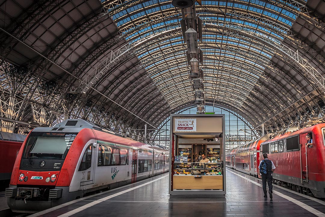 Entrepreneur in Frankfurt Train Station