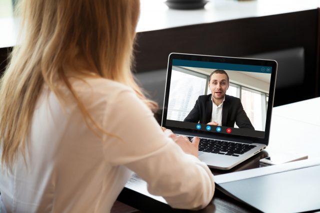 Pharma Sales Rep watching Brand Team update video